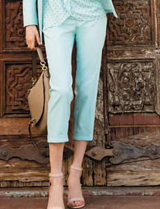 Chaus Green Capris & Crops Soft Pants