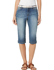 Gloria Vanderbilt Medium Blue Capris & Crops