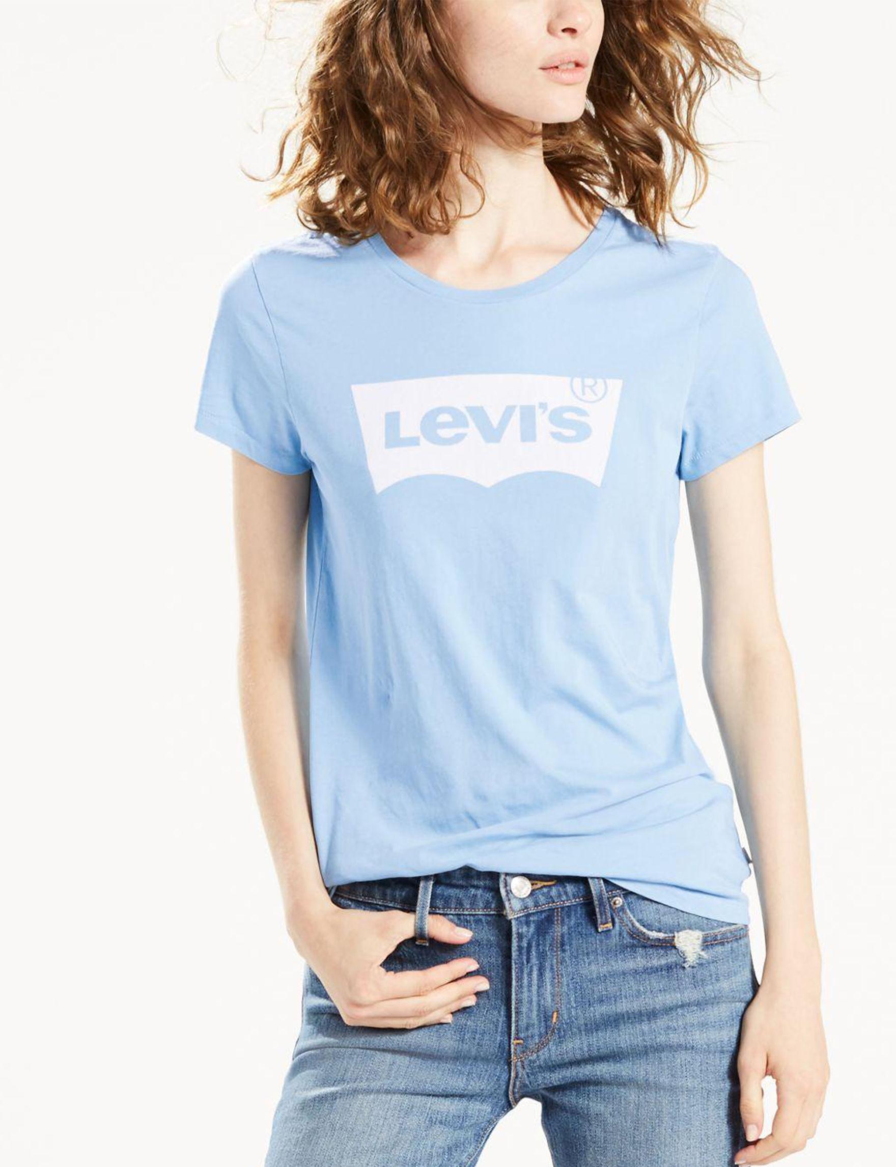 Levi's Light Blue Tees & Tanks