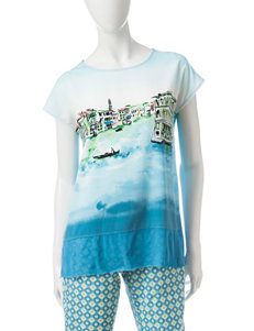 Ruby Road Riviera Scene Top