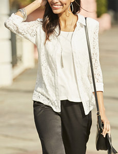 Sara Michelle Lace Layered-Look Top