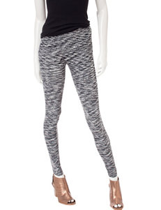 One 5 One Black /  White Capris & Crops Leggings