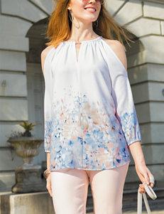 Valerie Stevens Pink / White Shirts & Blouses