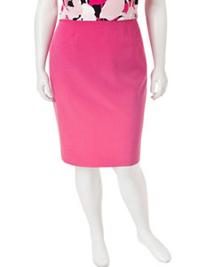 Kasper Plus-size Crepe Skirt
