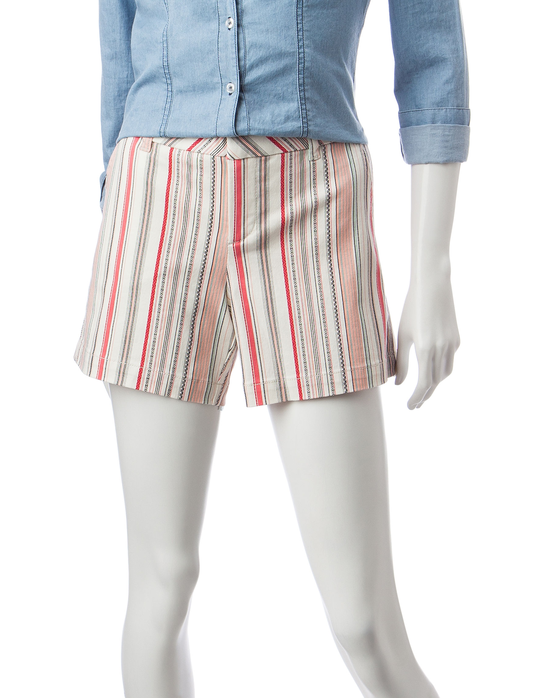 Hannah White / Coral Tailored Shorts