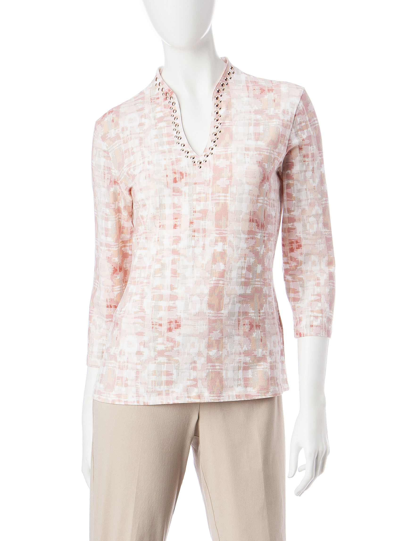 Ruby Road Pink Shirts & Blouses