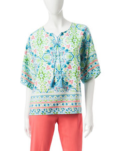 Ruby Road Blue / Green Shirts & Blouses
