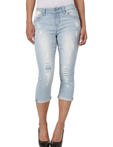 Seven 7 Light Blue Capris & Crops