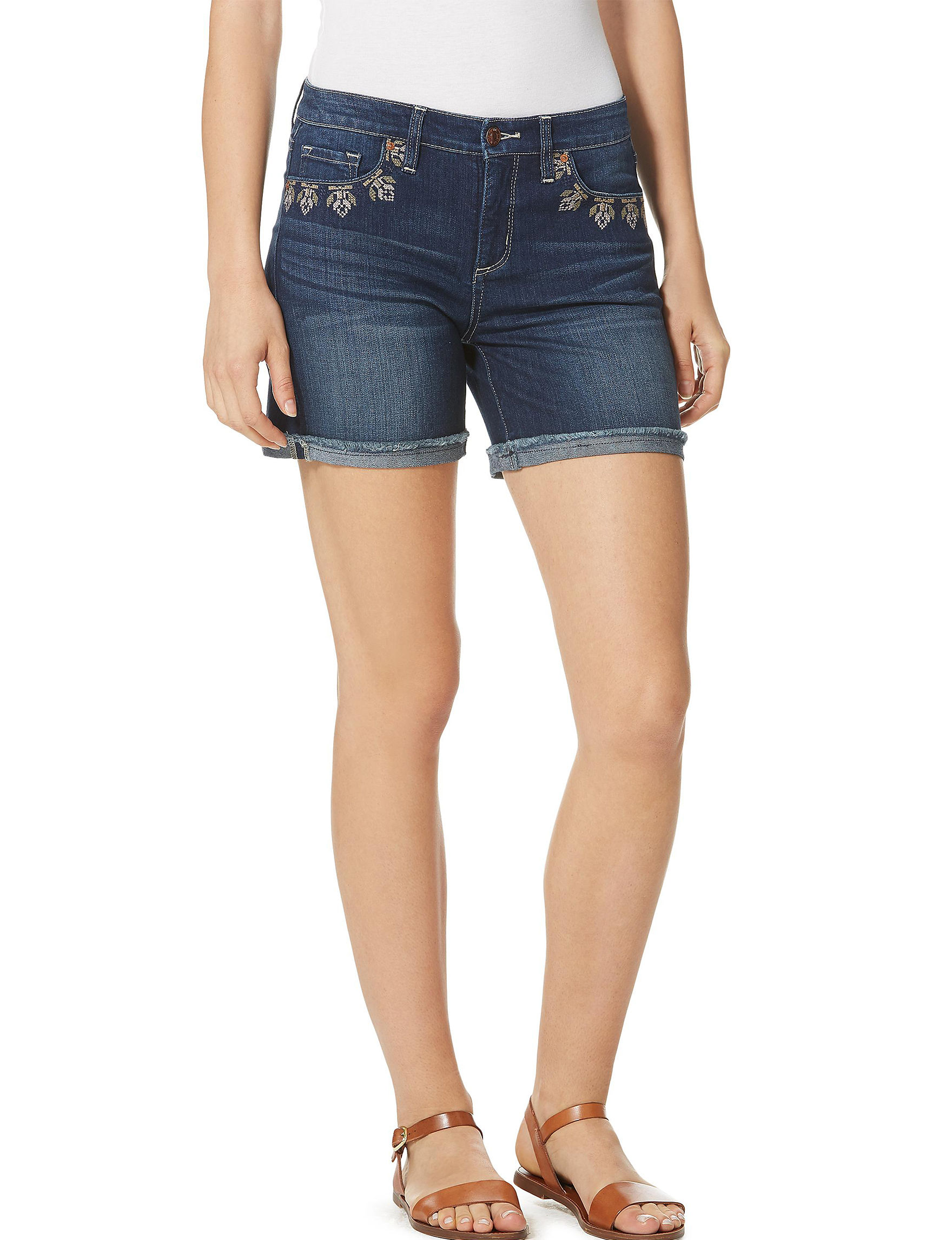 Vintage America Blues Blue Denim Shorts