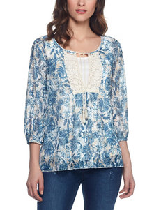 Skyes The Limit Navy Multi Shirts & Blouses