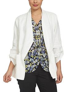 Chaus White Lightweight Jackets & Blazers