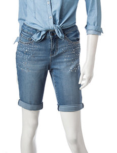 Earl Jean Dark Blue Denim Shorts