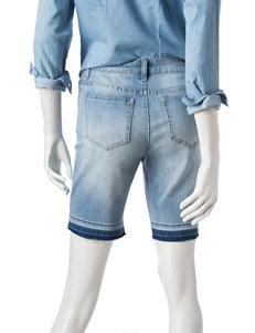 Earl Jean Light Blue Denim Shorts