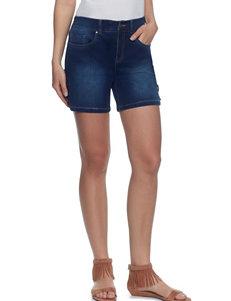 Skyes The Limit Dark Blue Denim Shorts