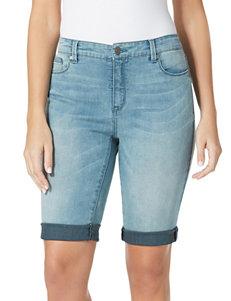 Bandolino Aquamarine Denim Shorts