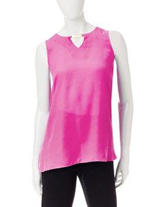 Valerie Stevens Pink Shirts & Blouses