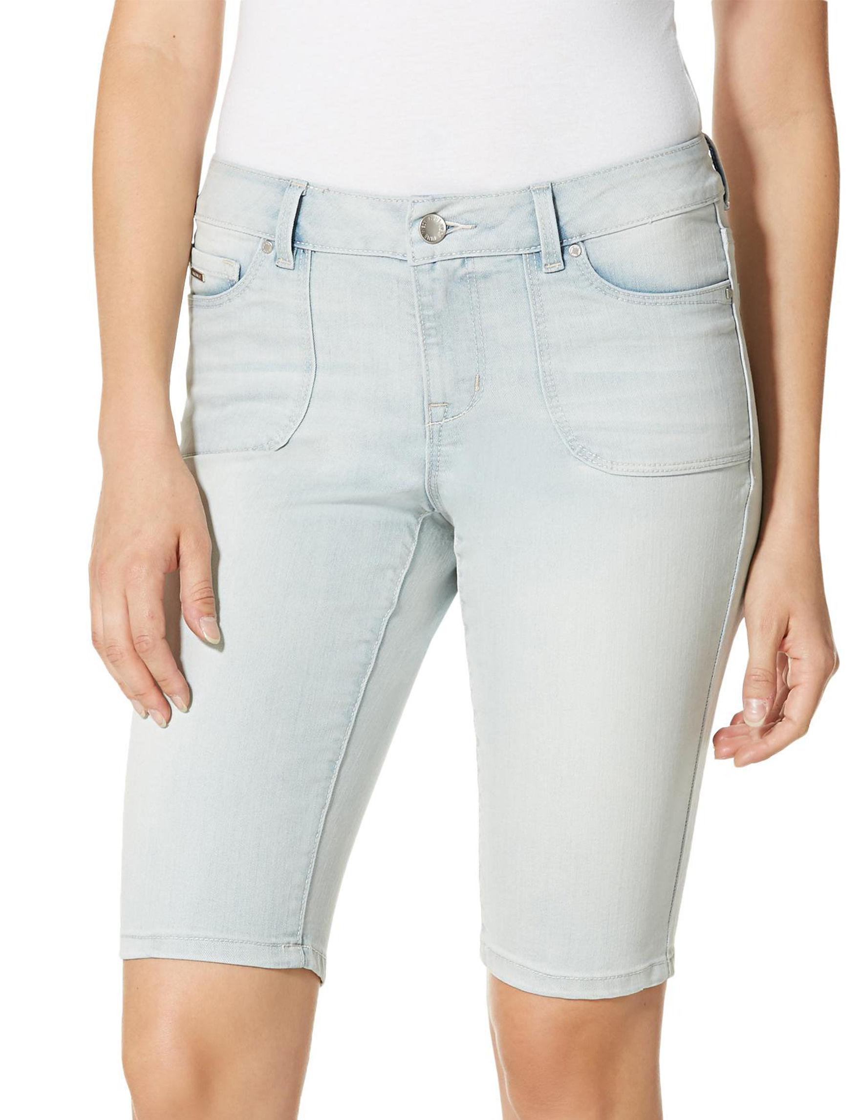 Nine West Jeans Light Blue Denim Shorts