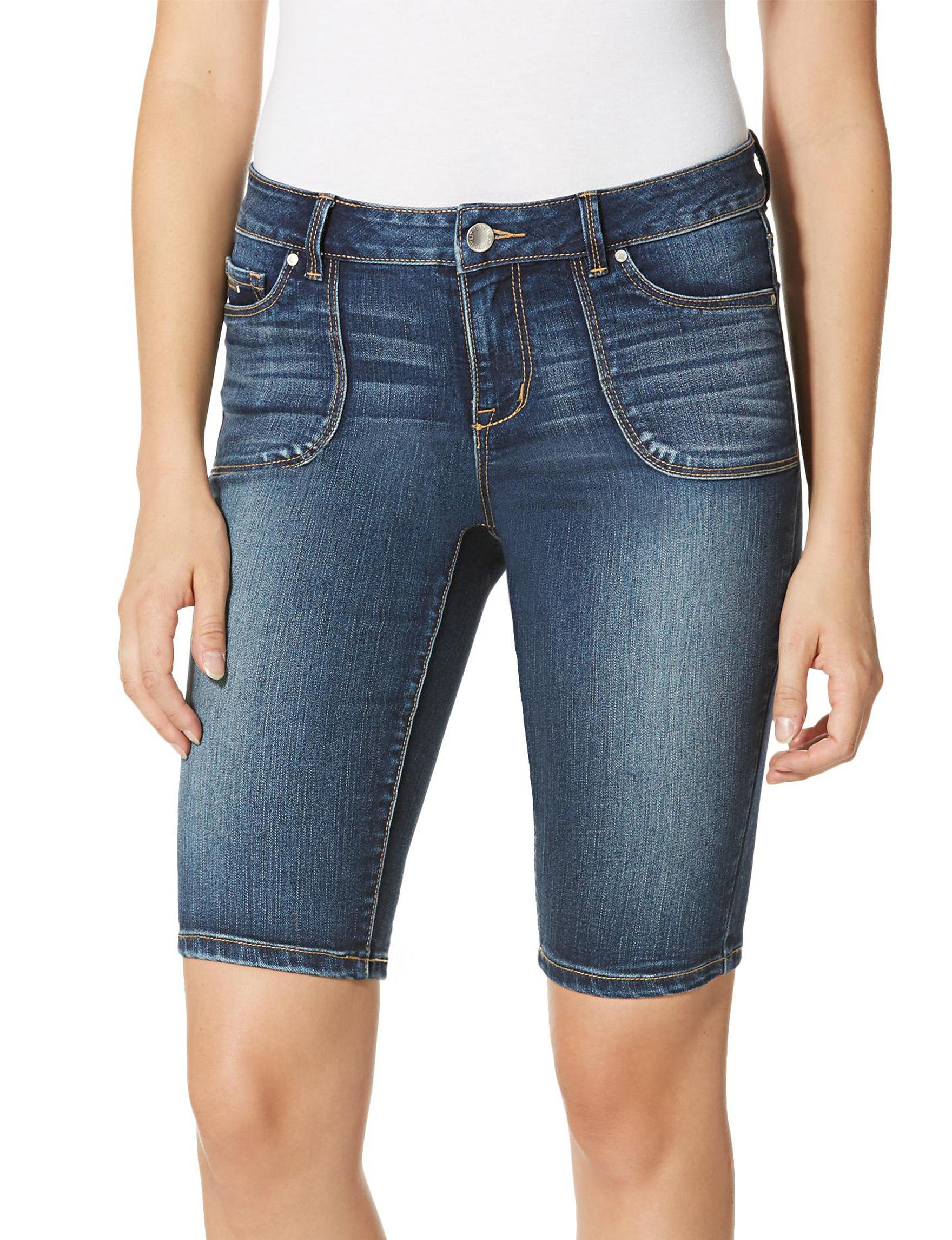 Nine West Jeans Blue Denim Shorts