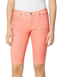 Nine West Jeans Orange Denim Shorts