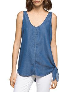 Calvin Klein Jeans Blue Camisoles & Tanks Shirts & Blouses