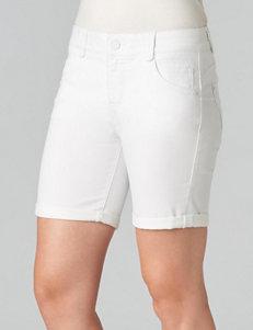 Democracy White Denim Shorts
