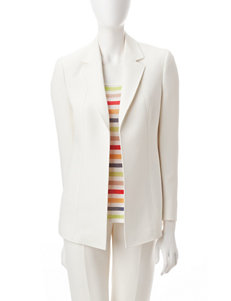 Anne Klein White Lightweight Jackets & Blazers