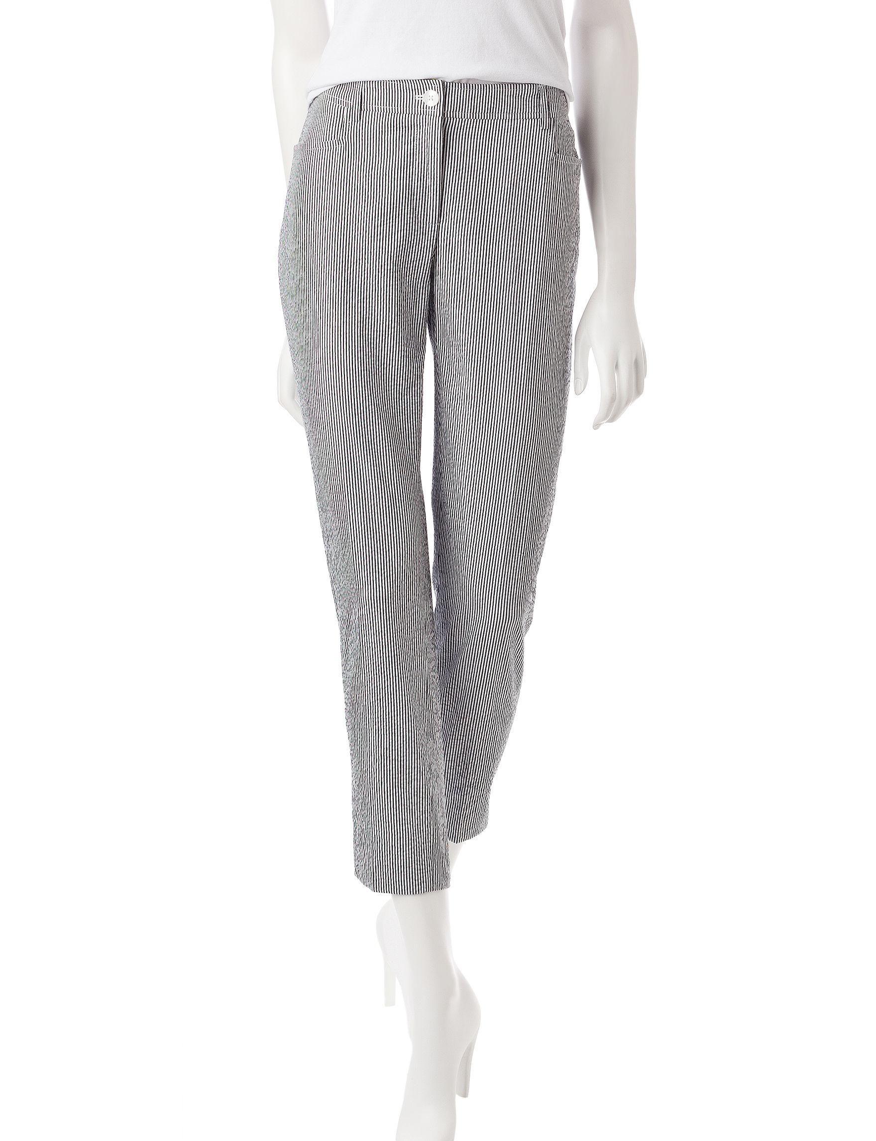 Anne Klein Black / White Soft Pants
