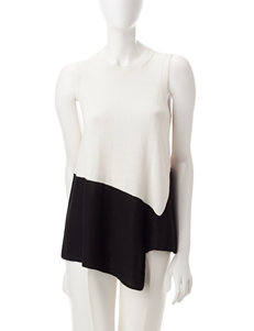 Anne Klein White / Black Pull-overs Sweaters