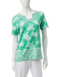 Alfred Dunner Kiwi Shirts & Blouses