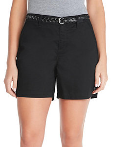 Gloria Vanderbilt Black Tailored Shorts