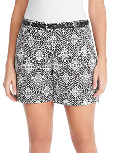 Gloria Vanderbilt Black Tailored Shorts
