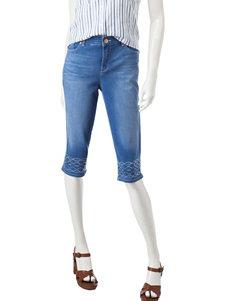 Gloria Vanderbilt Blue Capris & Crops
