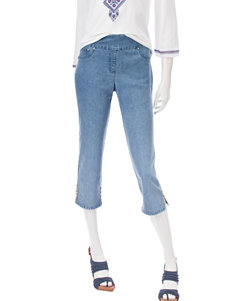 Ruby Road Blue Denim Capris & Crops Everyday & Casual