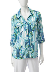 Notations Turquoise Shirts & Blouses