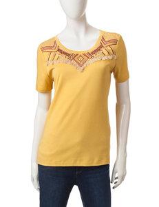 Rebecca Malone Mustard Shirts & Blouses