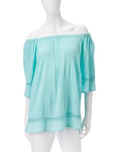 Rebecca Malone Turquiose Shirts & Blouses