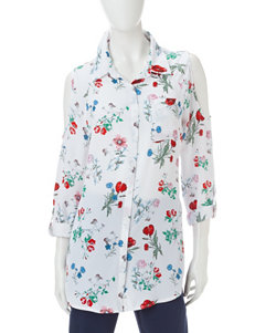 Valerie Stevens White Everyday & Casual Shirts & Blouses