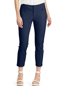 Chaps Navy Capris & Crops Soft Pants