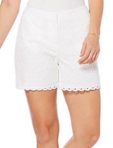 Rafaella White Tailored Shorts