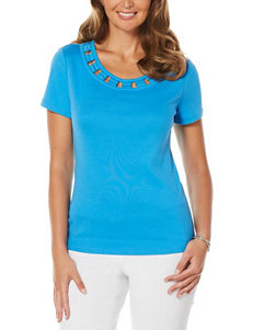 Rafaella Blue Tees & Tanks