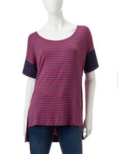 Hannah Red / Navy Shirts & Blouses