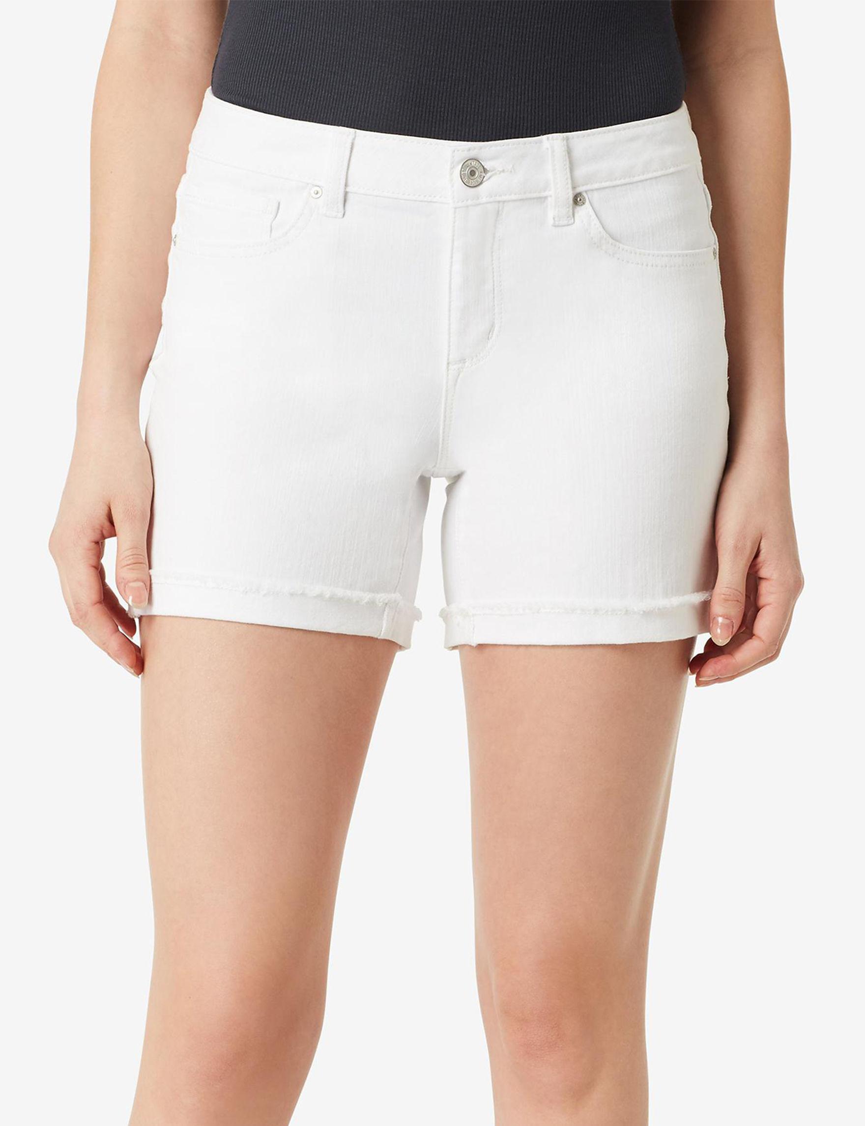 Vintage America Blues White Denim Shorts