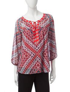 Valerie Stevens Red / White / Blue Shirts & Blouses
