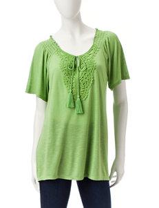 Tru Self Green Shirts & Blouses