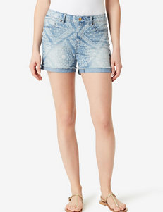 Vintage America Blues Light Wash Denim Shorts