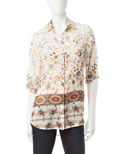 Energe Floral Shirts & Blouses