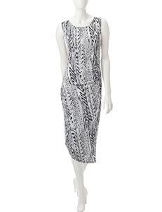 Calvin Klein Black Multi Everyday & Casual Sheath Dresses
