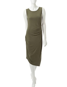 Calvin Klein Olive Everyday & Casual Sheath Dresses