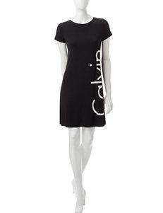 Calvin Klein Black / White Everyday & Casual Shirt Dresses