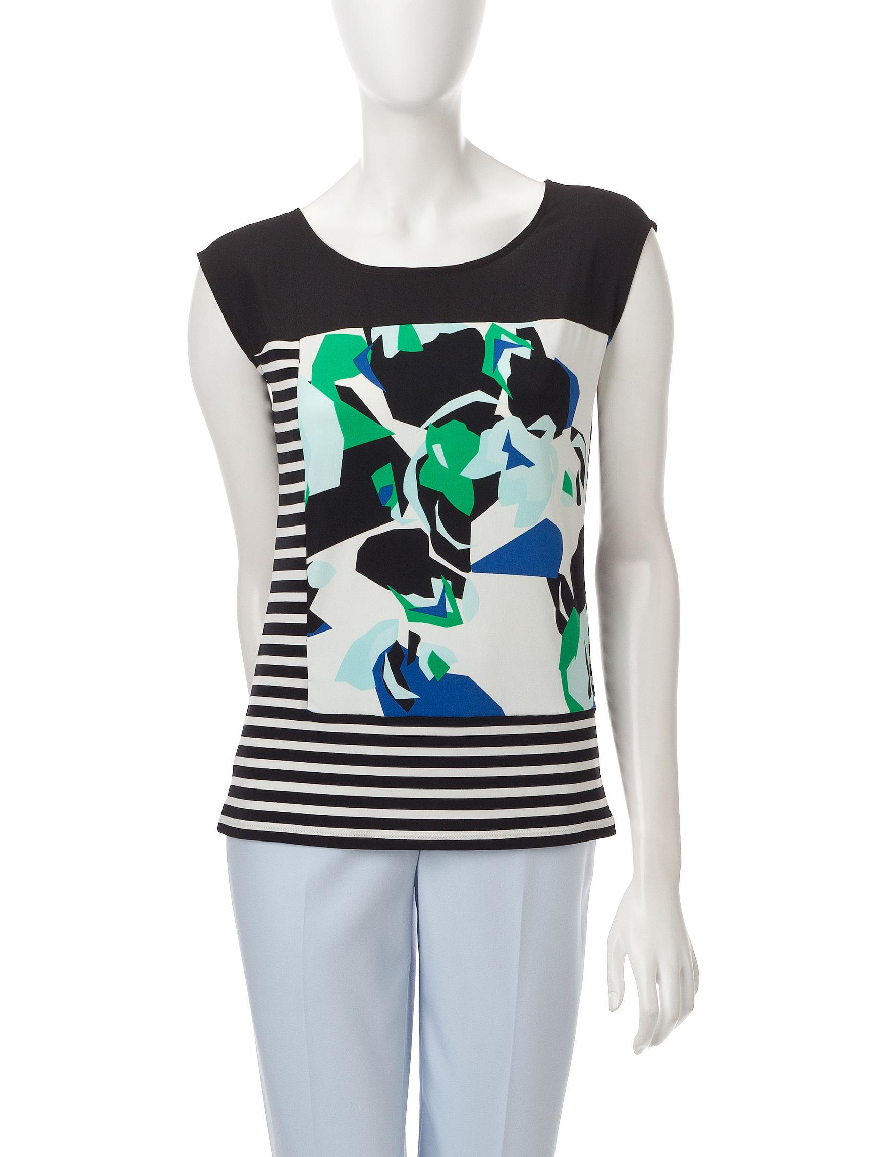 Calvin Klein White / Orange Shirts & Blouses